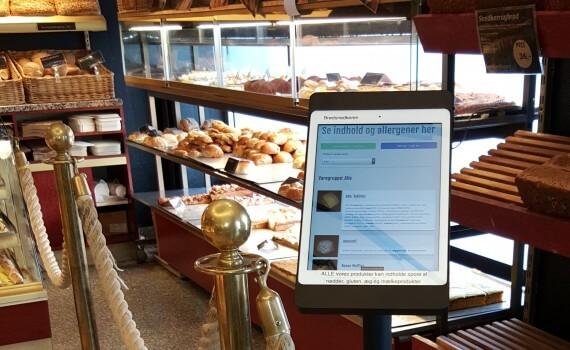 Den første installation af in-store display var hos Brødsnedkeren, Humlebæk